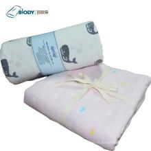 Cobertor bonito do bebê do algodão orgânico do cobertor