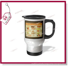 14oz Stainless Steel-Full Mugs with Patch to Sublimate