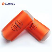 Logotipo personalizado borracha de segurança de esqui transportar cinta