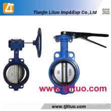 Hot Sale Fabricante Ductile Ferro Wafer Válvula Borboleta