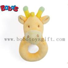 "6 ""laranja girafa anel suave brinquedo do bebê chocalho"