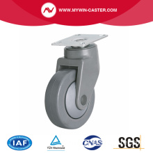 Medium 4 Inch 80Kg Plate Swivel TPE Caster