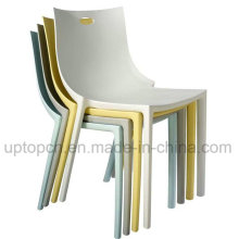 Chaise empilable en plastique coloré empilable pour restaurant (SP-UC446)