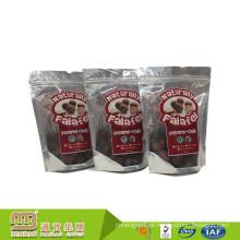 Stand Up Personalizado Impresso Data Plástico Transparente Secado Embalagem de Alimentos Saco de Barreira de Umidade Zip Lock Com Zíper