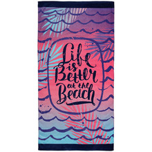 Print material beach towels bath towels with bag