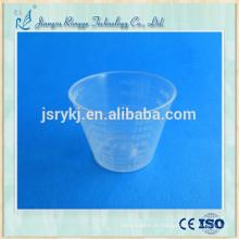 Copo de plástico medicinal descartável 30ml