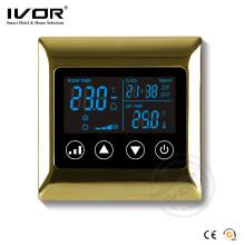 Termostato programable de la sala del sistema de HVAC de la pantalla táctil de Ivor Sk-AC2000L8
