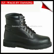 Chaussures de sécurité élastiques à côté avec du cuir véritable et un bout en acier