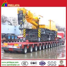 Remorque de grue de transport à pont inférieur multi-essieux