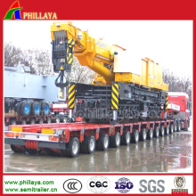 Multi Axles Lower Deck Transport Crane Trailer