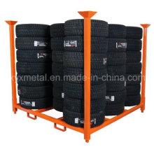 Warehouse Metal Storage Stackable Tyre Rack