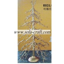 Golden Color 90cm Plastic Branch Party Decoration Tree For Table Centerpiece