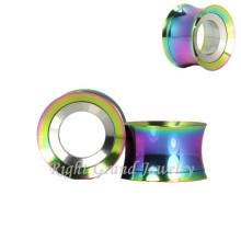 316L Stahl Innengewinde Titan Rainbow Screw Fit Ear Gauges