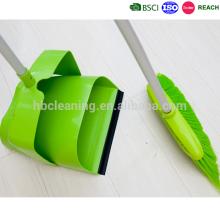 Высокое качество по bsci пластиковые ветрозащитный комплект dustpan и щетки, совок с метлой, набор