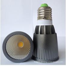 Novo AC85-265V 7W E27 de alta potência COB LED lâmpada