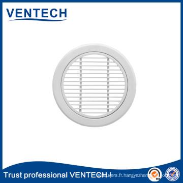 Grille d'air linéaire ronde de 0 degré pour l'usage de ventilation