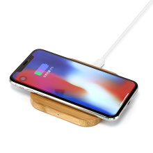 Hot sale 2021 portable ultra-thin bamboo fast wireless charger for phone
