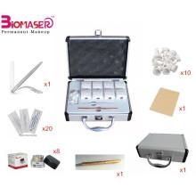 Microblading sobrancelhas Kit de prática Permanent Make up caneta manual Sobrancelha Tattoo, pigmento microblading
