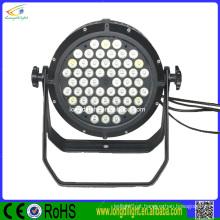 Impermeável led par 54 * 3w par pode rgbw LED par 64 luzes led / led par 54 * 3w rgbw iluminação exterior