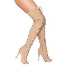 summer thigh heel tall cool booties sandal