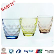 Vaisselle en gros Vaisselle en verre à base de verre à vin rond / italien sculptée