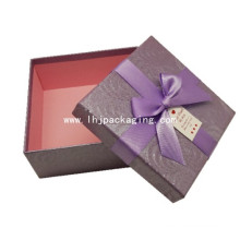 Luxury Two Pieces Set up Gift Packing Paper Box with Ribbon
