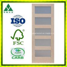 5 Lite/Glass Shaker Wood Veneer French Door