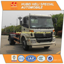 FOTON AUMAN 4x2 10CBM hook lift garbage truck 160hp in good quality for sale In China