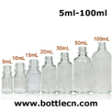 food grade 30ml 1 oz empty clear glass bottle with eye dropper for e-juice/ liquid storage