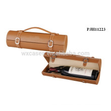 hot sales high quality leather wine carrier for single bottle manufacturer