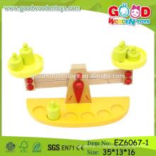 2015 Новейшая образовательная весовая игрушка, деревянная игрушка весов весов, детская игрушка деревянного баланса