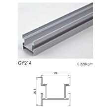 Pista de aluminio anodizado H para puerta de guardarropa