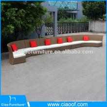 Rattan sectional sofa outdoor semi circle furniture