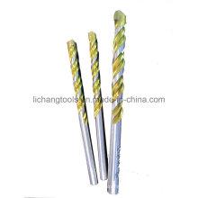Outils électriques Foret à maçonnerie avec flûte dorée, bord blanc, double flûte