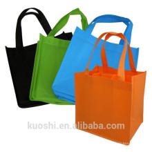Saco de compras não tecido reciclável personalizado dos pp
