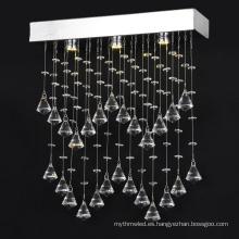 Lámparas de cristal k9 bar claro iluminación de la lámpara