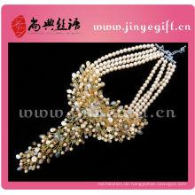 Handgemachte Kristallperle klobige Halsketten stellten Luxusschmucksachen ein