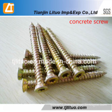 Carbon Steel Yellow Zinc Concrete Screw