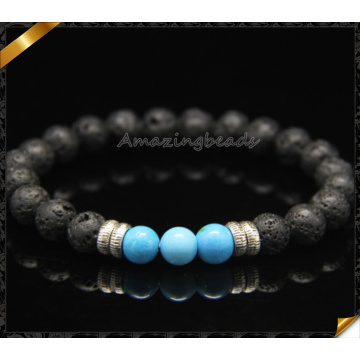New Style Stone Bracelets with Black Lava Beads (CB0113)