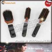 Wooden Hairbrush with Rubber Coating
