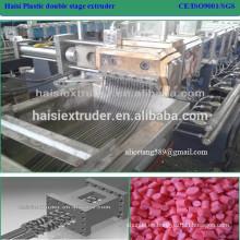poco ruido y normas CE reciclan granulación pellets de plástico de pp que hace la máquina