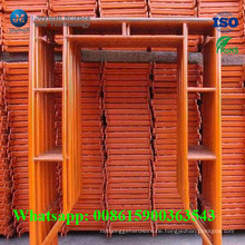 Hochwertiges Stahlrahmen-System-Baugerüst von der realen Fabrik