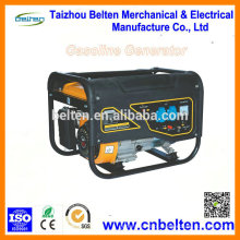 Gerador de energia elétrica portátil de 2.5KW Gerador de energia com gerador silencioso com motor de gasolina 168F