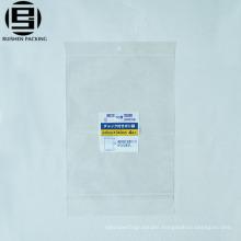 Fresh bopp plastic vegetables packing bag in supermarket