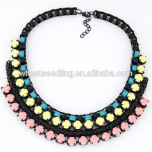 2015 Trendy braided lady big choker necklace