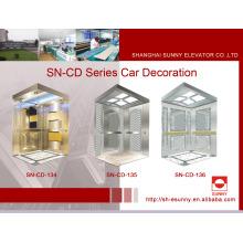 Cabine do elevador com painel dourado côncavo (SN-134)
