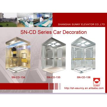 Aufzugskabine mit konkavem goldenem Panel (SN-134)