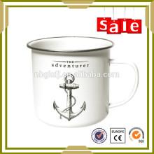 enamel drinkware 450ml menstrual cup with SS rim