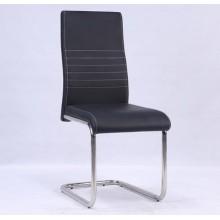 Cuir d'unité centrale dinant la chaise avec pied chromé