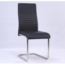 Cuero de la PU cenando la silla con pata cromada